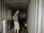 Checking containers for possible conversion into market shops